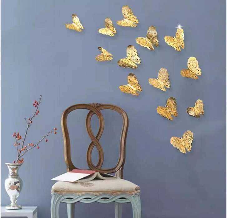 Mariposas Decoracion Pared 12 Unid