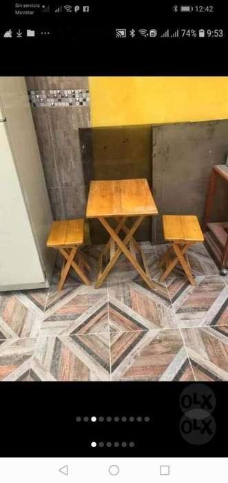 Mesa Y 2 Sillas Francesas