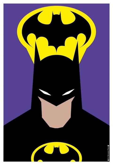 BATMAN PURPLE Poster Afiche