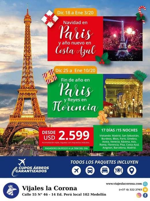 Viaje como un Rey a Navidad en Paris con Viajes la Corona