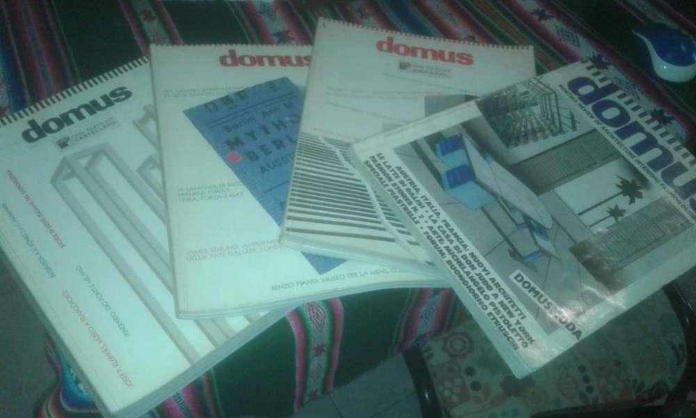 4 revistas domus (COLECCIÓN)