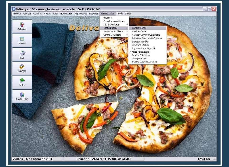 Programa DELIVERY GDS Sistemas - software para ventas por mostrador y envíos: pizzas, empanadas, bebidas...