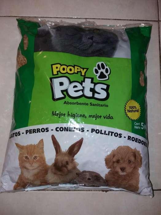 Poopy Pets Absorbente Sanitario Ecologico Pellets Madera X 25 Kg