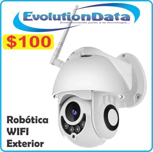 Camara IP Robotica Exterior HD 720P Seguridad Inalambrica Android Iphone