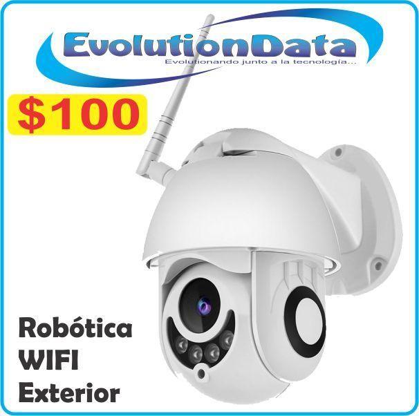 Camara IP Robotica Exterior HD 720P Seguridad Inalambrica Android Iphone