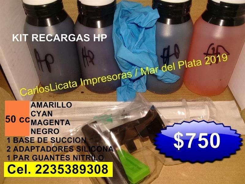 TINTAS PARA EPSON BROTHER HP CLIP DE PURGADO TONER