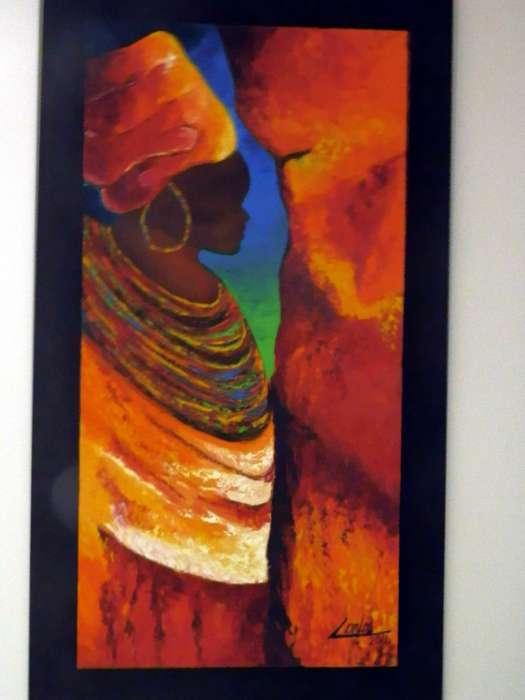 Pintura en oleo sobre lienzo, espatulado en formato vertical
