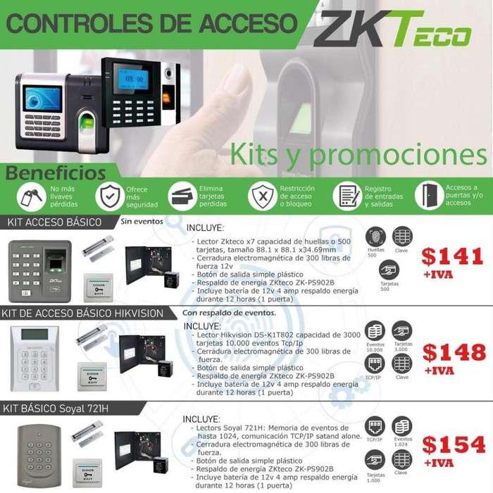 Control de Acceso kit /Respaldo de batería/Acceso/boton de salida/cerradura electromagnetica.Quito-Guayaquil