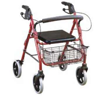caminador rollator en aluminio con canasta y <strong>silla</strong> de descanso