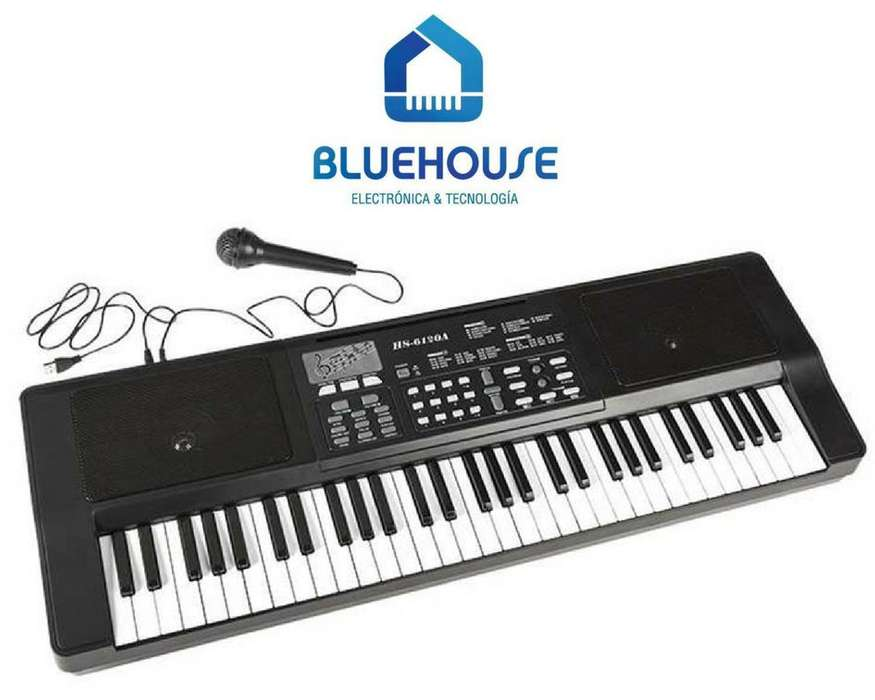 Teclado Organo Musical Piano Electrico 61 Teclas Mic
