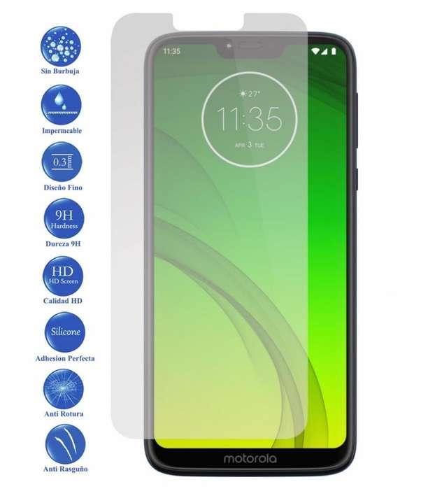 Protector Vidrio Templado Plano Full Motorola Moto G7 Power