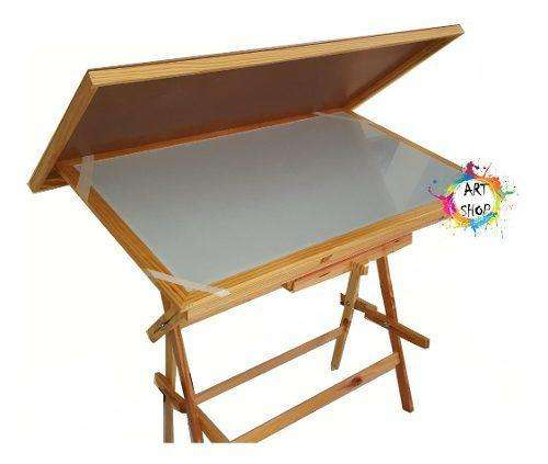 Mesa de dibujo para armar y restaurar tiene todo menos el vidrio