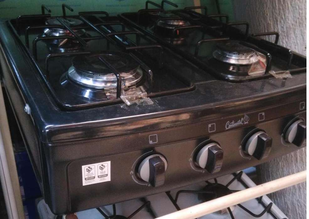 Estufa (Cocina) Continental de 4 hornillas sencilla