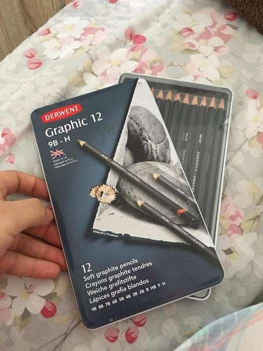 12 lápices Derwent grafito 9B-H