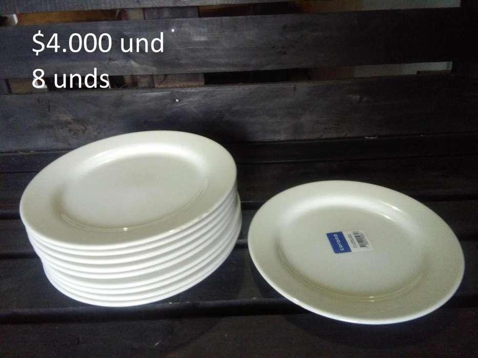 platos pocillos