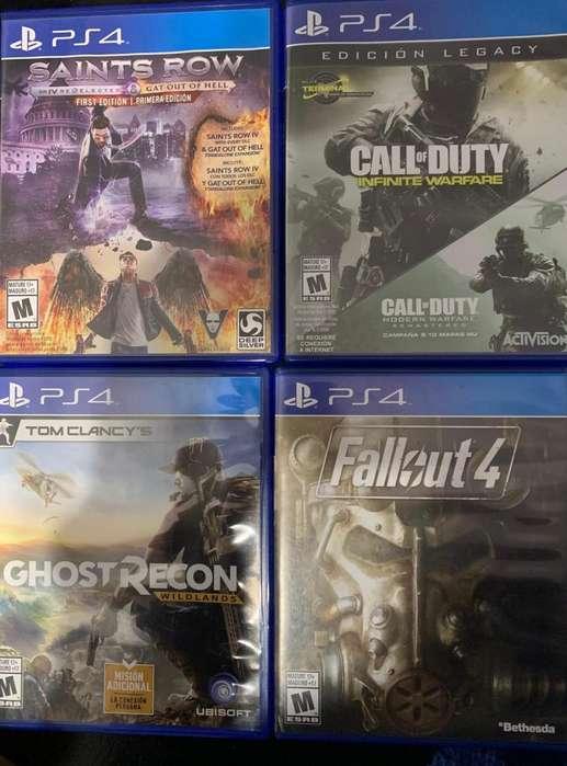 Vendo juegos varios PS4