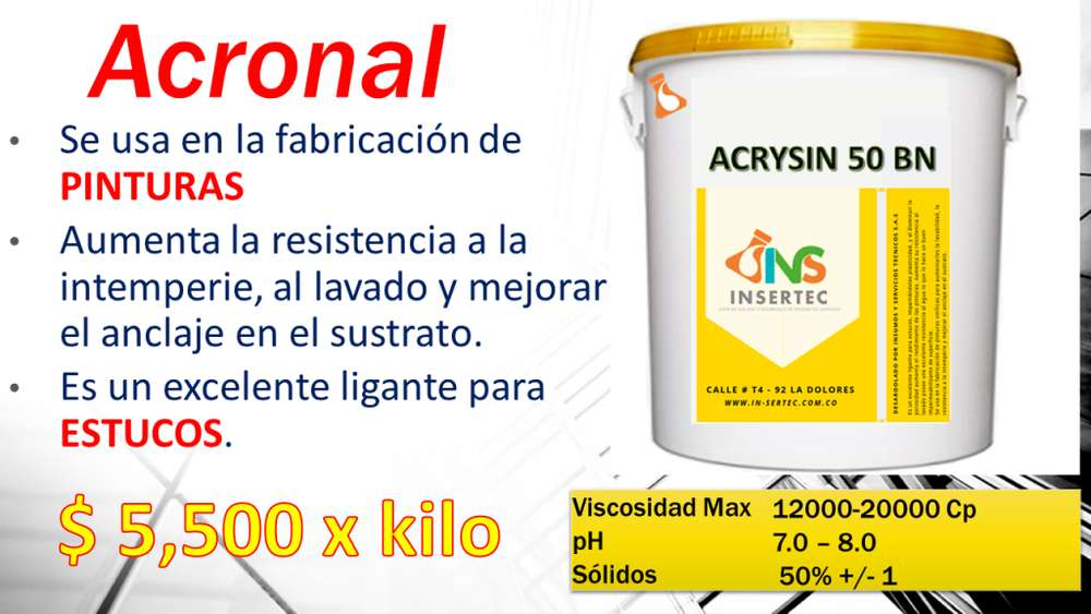ACRILICA ESTERINEDA ACRYSIN 50 BN (acronal)