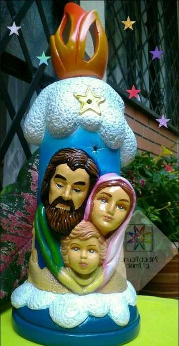 <strong>vela</strong> Navideña Sagrada Familia