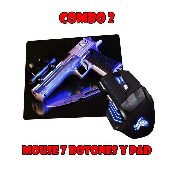 Mouse Gamer y Mouse Pad Gamer desde 39.990