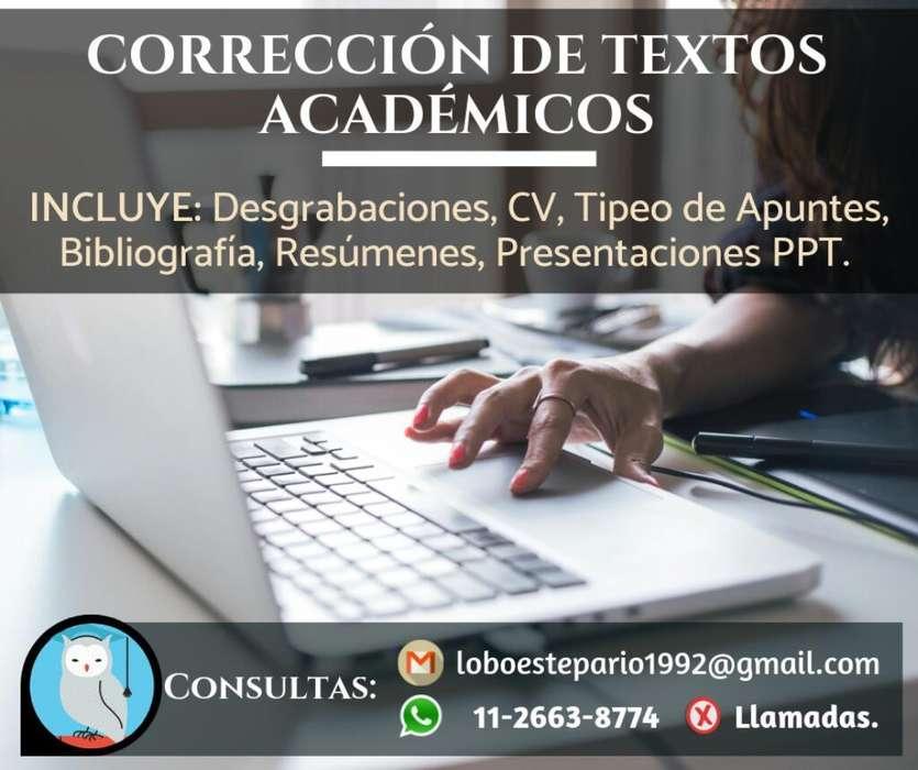 Corrección de Textos Académicos.
