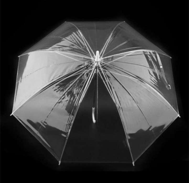 Paraguas Transparente 91 Cm de Diámetro.