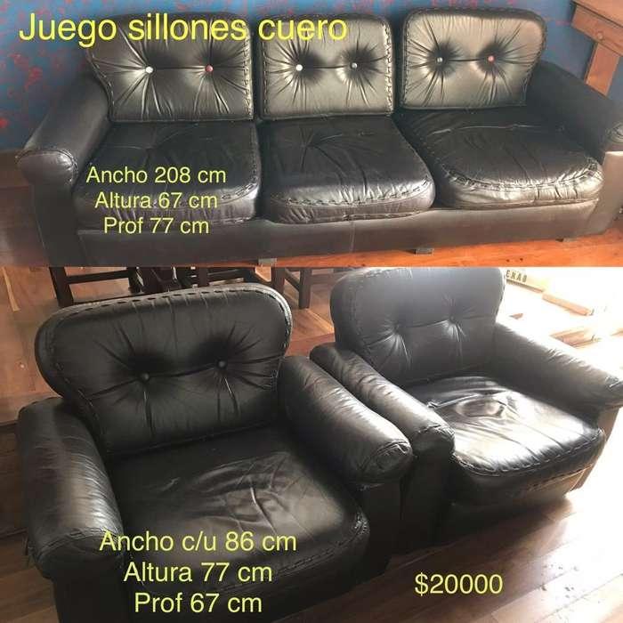 Excelente Juego de <strong>sillones</strong> de Cuero