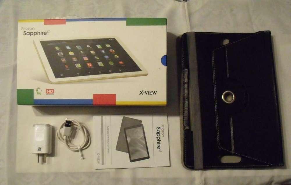 Tablet X-View Proton Sapphire LT - 16 GB - HD - Con Funda - NO PERMUTO
