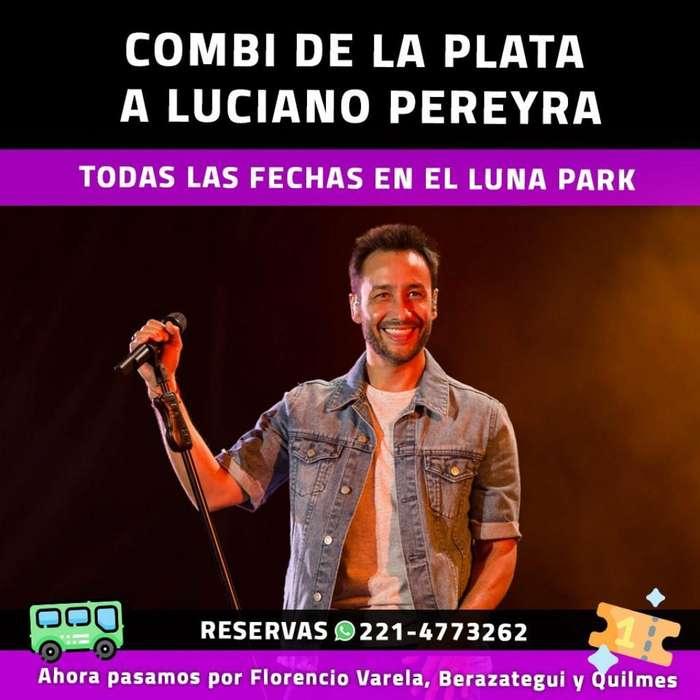 Combi Al Recital de Luciano Pereyra