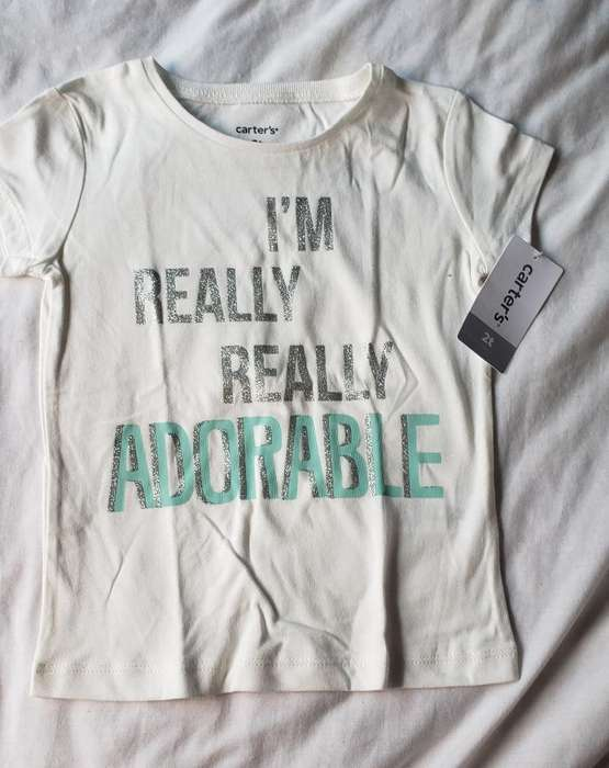 Camiseta Nueva Niña Carters 12