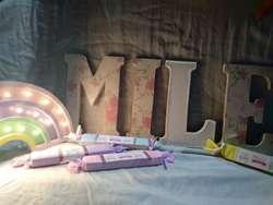 Letras para Candy Bar Decoradas