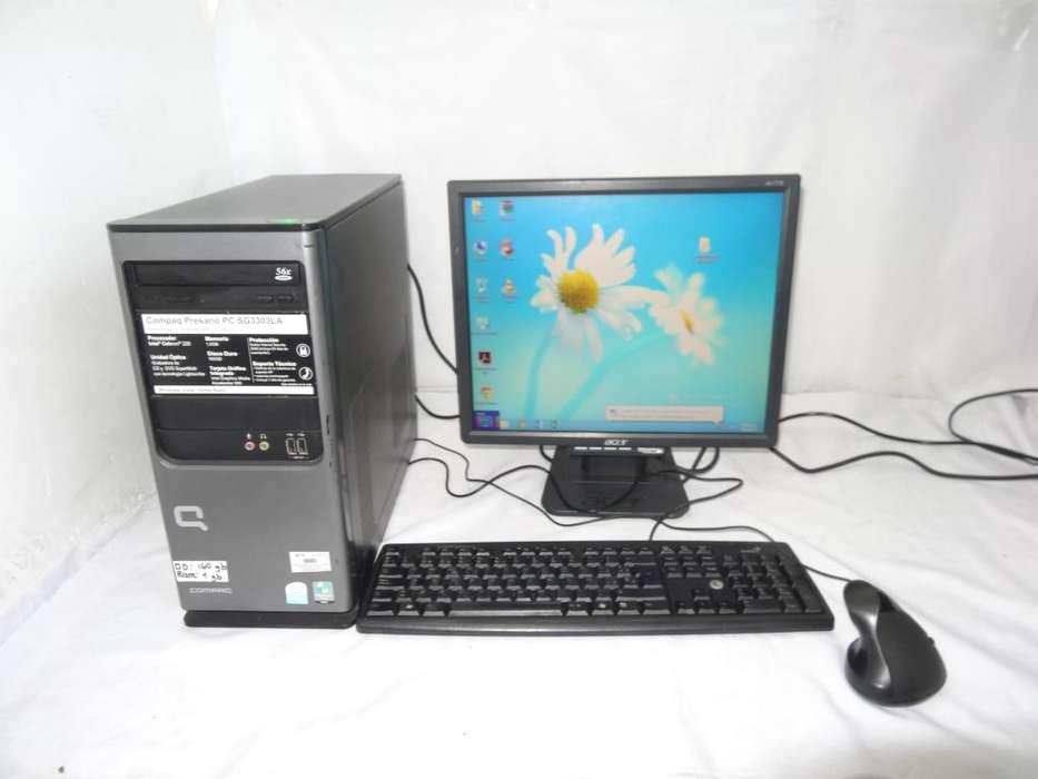 COMPUTADOR DE MESA COMPAQ INTEL CELERON DD 160GB RAM 1GB COMPLETO