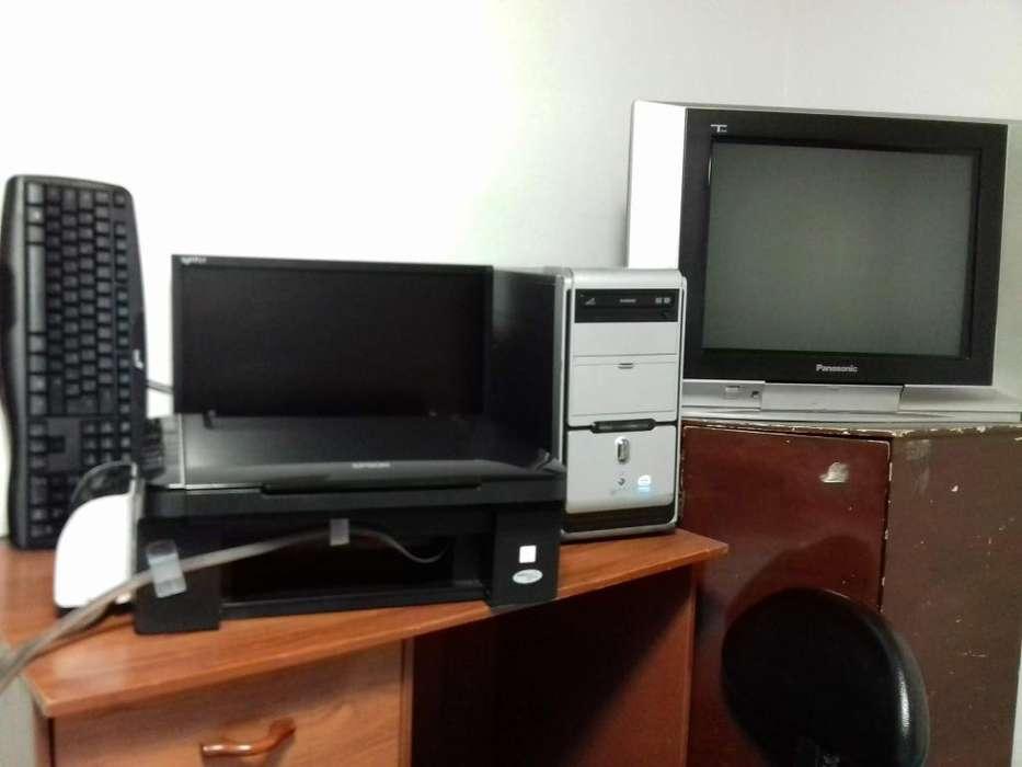 Vendo CPU Impresora Monitor Teclado Mouse Inalámbrico TV 24