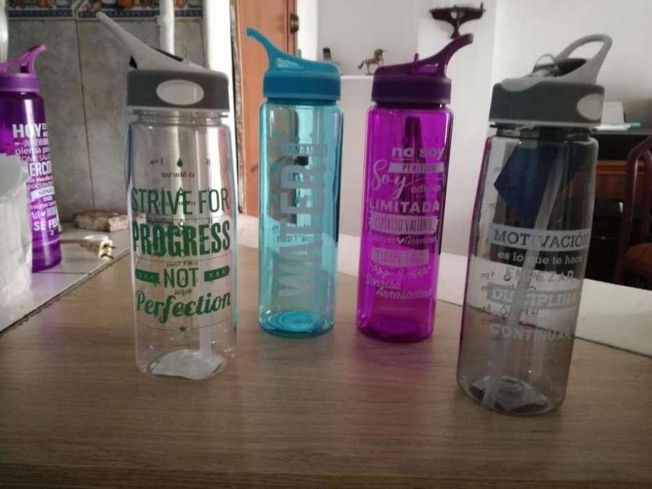 Hermosas botellas para llevar el liquido,con tapa antigoteo
