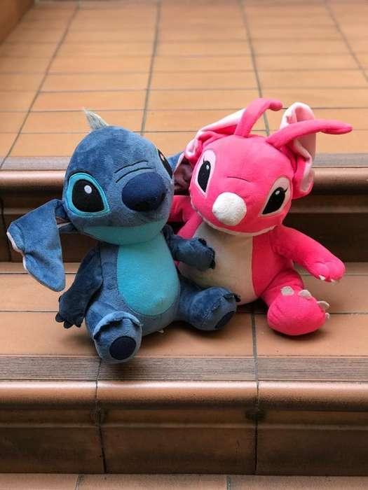 2 Peluches Stitch con Globos de Helio