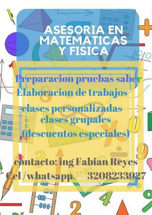 asesorias en matematicas y fisica