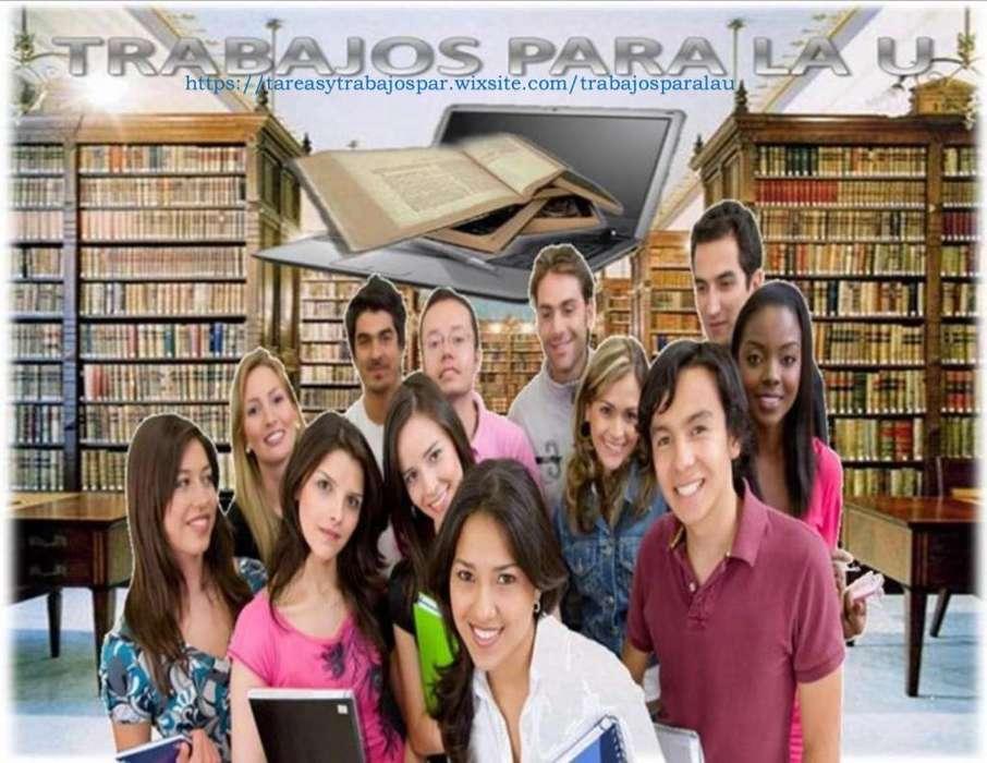 Fin de semestre. Evaluaciones, asesoría académica en trabajos, tesis, y monografías, proyectos, ensayos etc