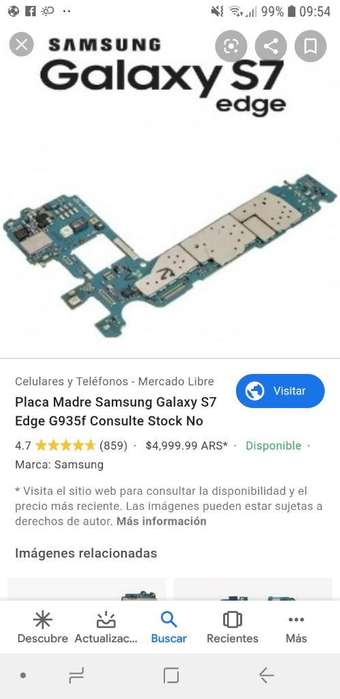 Vendo Placa de S7 Edge Libre