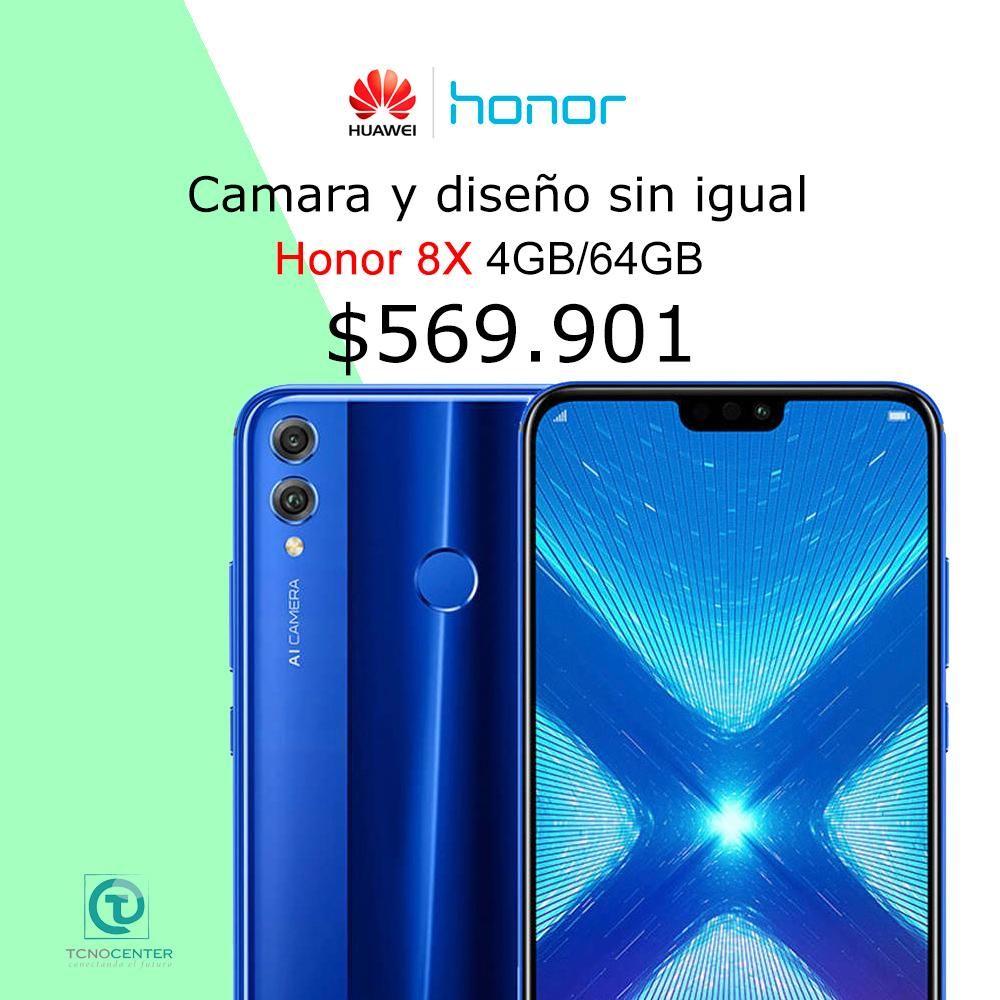 Honor 8x 64GB azul o negro, TIENDA FÍSICA, nuevo, homologado, sellado, factura de compra, calidad
