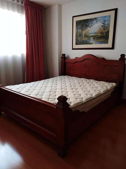 excelente y hermosa cama queen