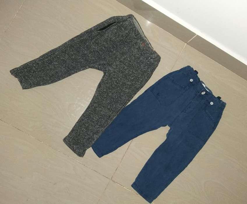 2 Pantalones Zara 18/24 Meses