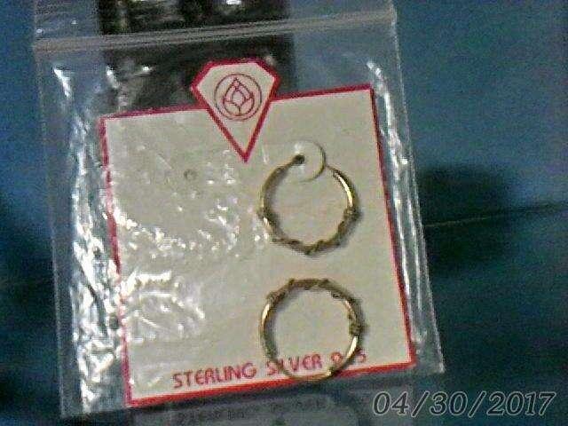 Aros de <strong>plata</strong> esterlina nuevos importados