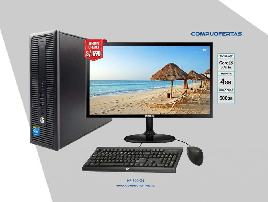 HP PRODESK 600 G1 CORE I3 CON LED DE 19