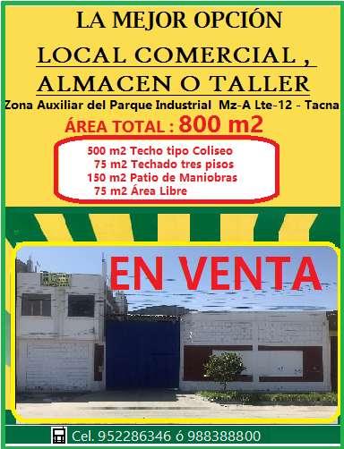 LOCAL COMERCIAL / ALMACÉN 800 M2 - PARQUE INDUSTRIAL TACNA
