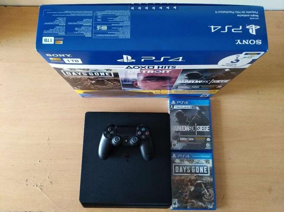 Playstation 4 Slim 1 Tb Como Nuevo