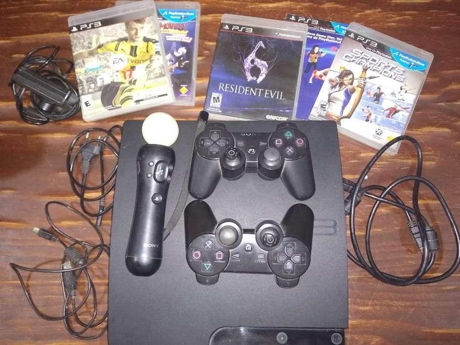 Play 3 con Sus Accesorios Y Juegos