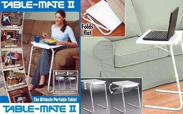 Mesa Table Mate Ii Tv. Ajustable Multiusos Portátil Plegable