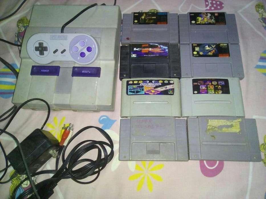 Super Nintendo con Juegos