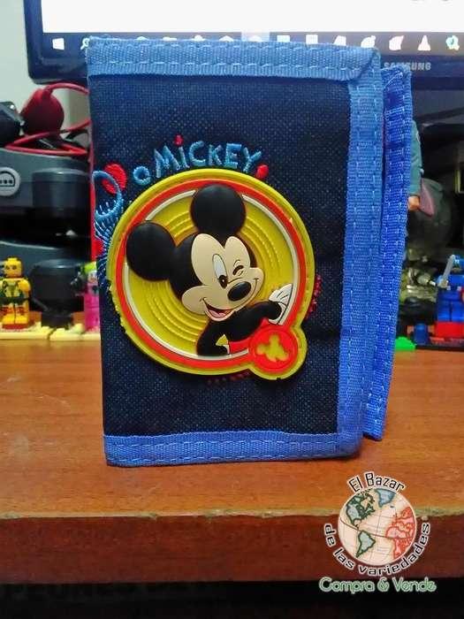 Billetera Mickey Mouse para niño Marca TOTTO [SIN USO]