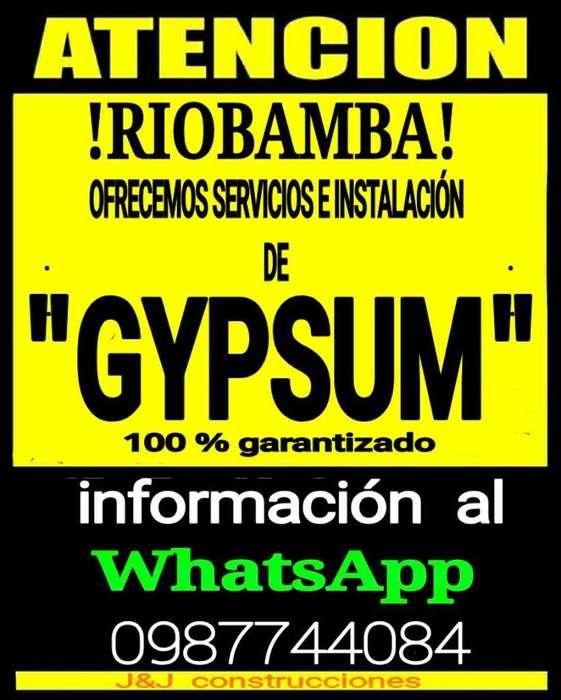 Instalación de Gypsum 100 % Garantizado