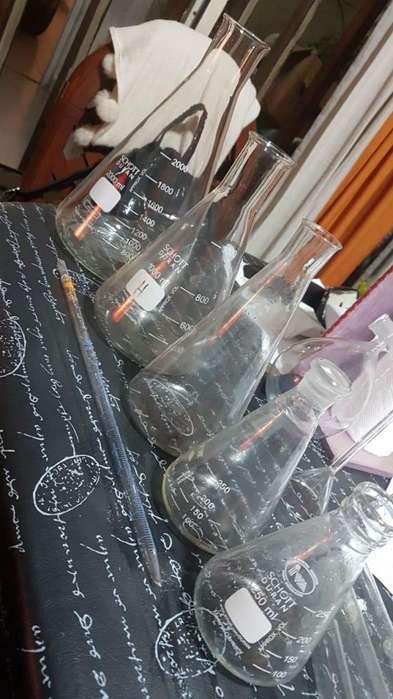 Lote de instrumentos quimicos